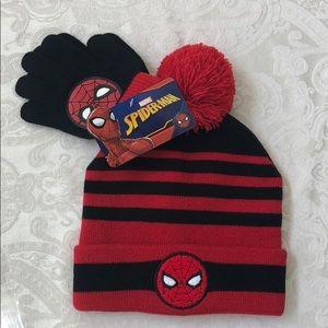 Marvel SPIDER-MAN Little Boy Winter Hat and Gloves